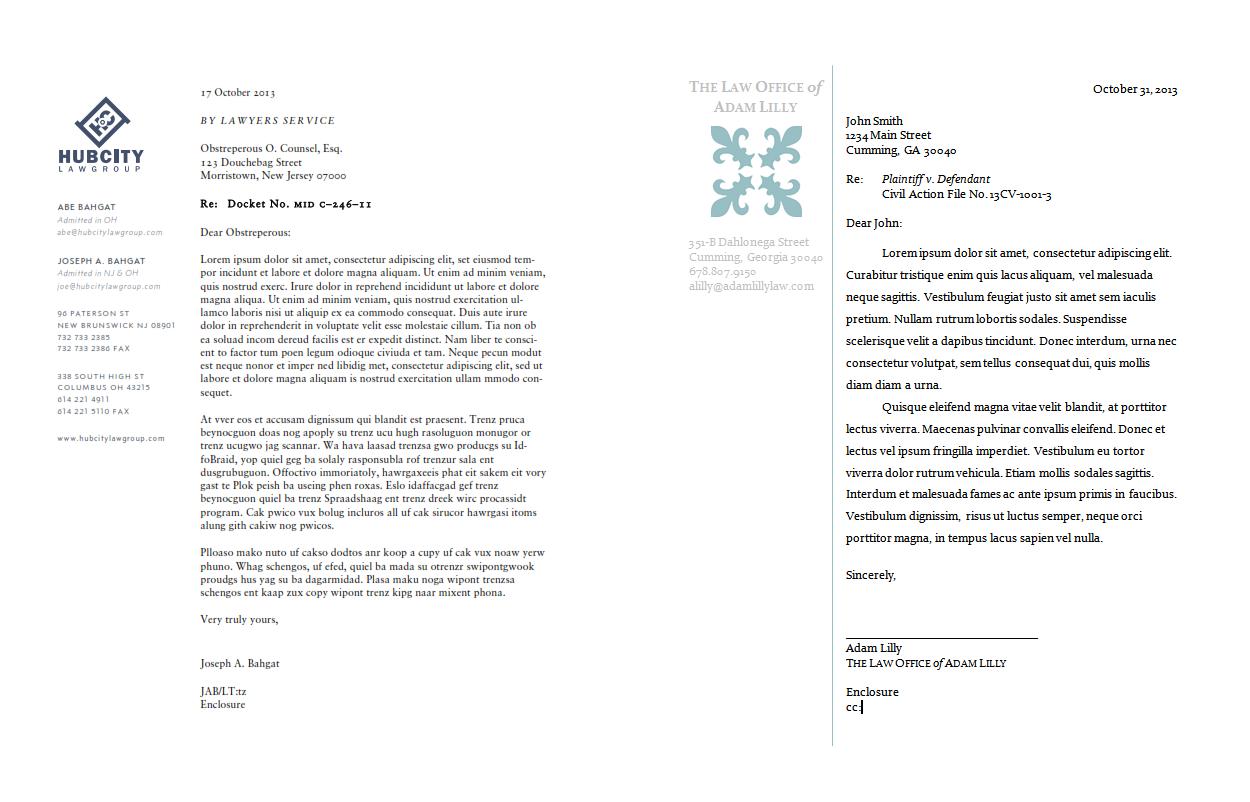 DIY Law Firm Letterhead Using Microsoft Word Law Firm