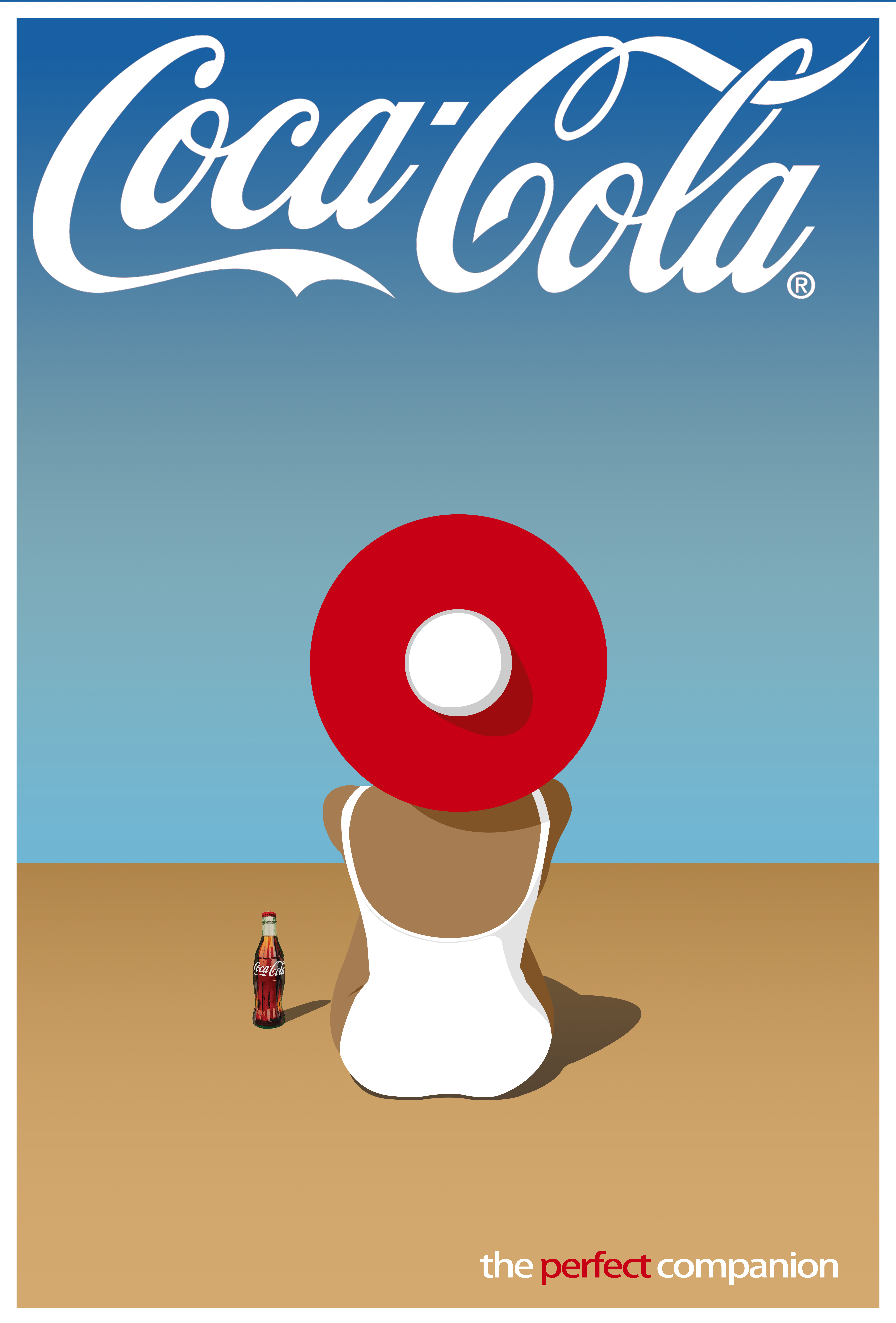 Poster design in indesign - Coca Cola Ad Indesign Photoshop Project Inspired By Vintage Perrier And Orangina Posters