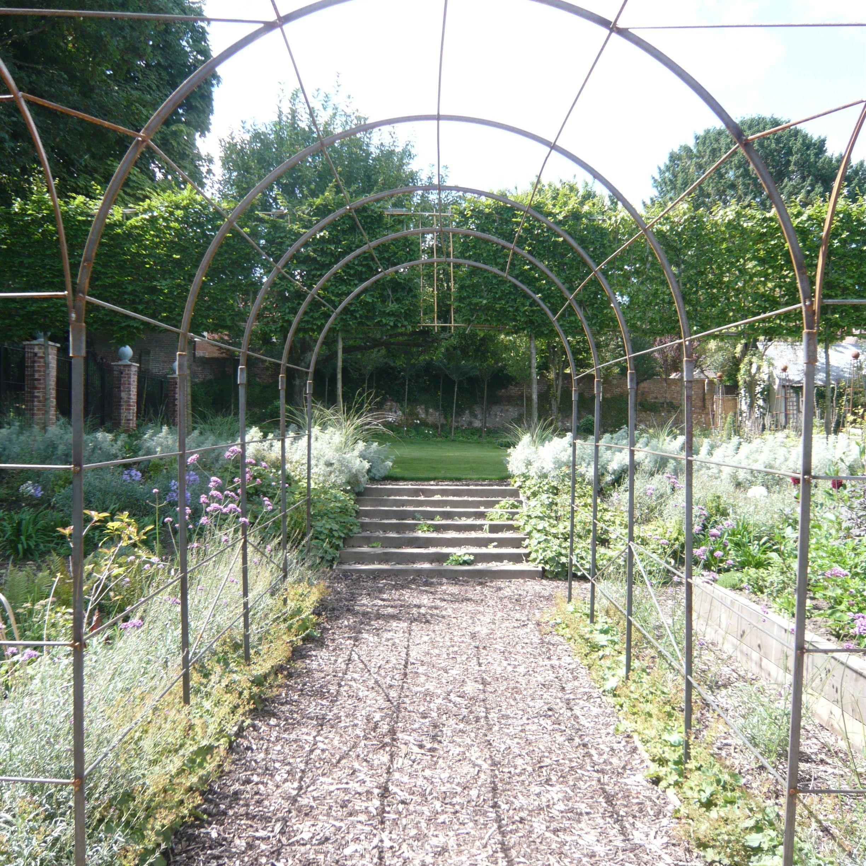 A Beautiful Wrought Iron Fruit Walk Farm Chic Garden Vegetable - Home-vegetable-garden-design