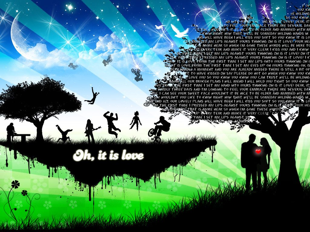 Download oh it is love HD Widescreen Wallpaper from the above resolutions. If you don't find the exact resolution you are looking for, then go for Original or higher resolution which may fits perfect to your desktop.