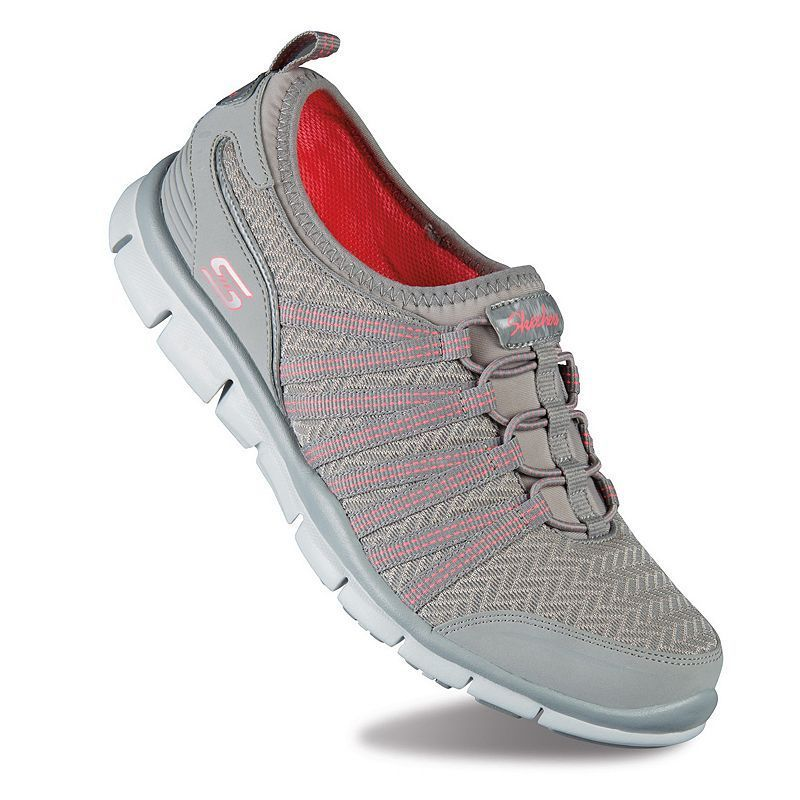 New Products Skechers Gratis Enticing Women's Athletic Shoes Gray Neon Pink