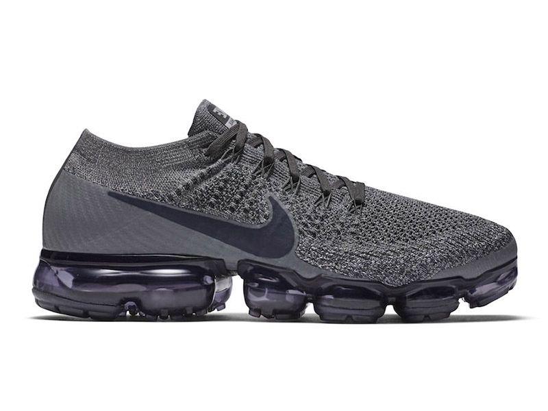 7aa78c89a1a7 Men s Women s Nike Air VaporMax Flyknit Dark Grey Obsidian-Wolf Grey Shoes  849558-014 UK Trainers Sale