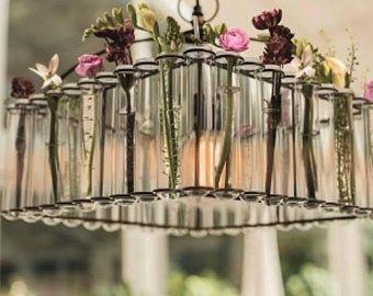 Maria single test tubes chandelier / lamp / // vase / | Etsy