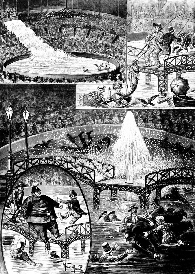 Berlin Zirkus Schumann 1890 Werbezeichnungen In Einer Berliner Zeitung