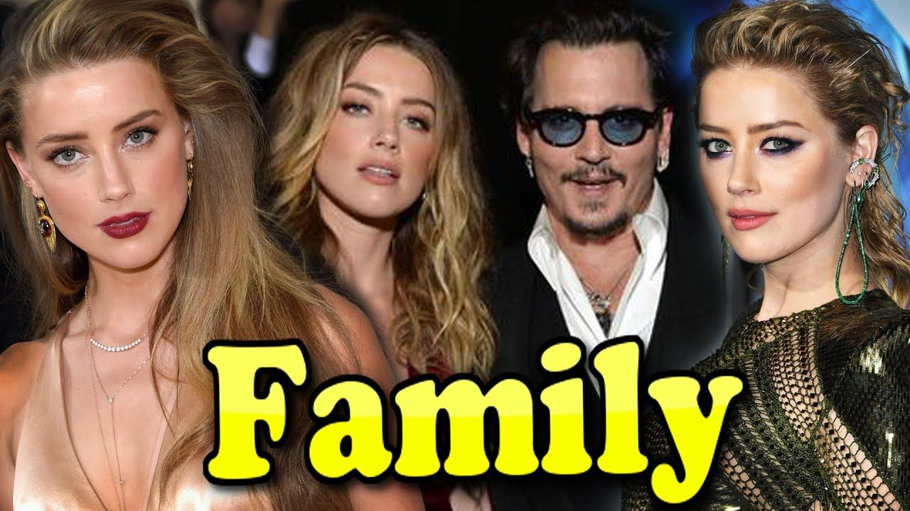 Amber Heard Family With Father Mother And Husband Johnny Depp 2020 In 2020 Johnny Depp Johnny Celebrity Couples