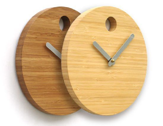 Made From Rapidly Renewable Bamboo, The Bamboo Clock Has A Minimalist  Design, Like A Movado ...