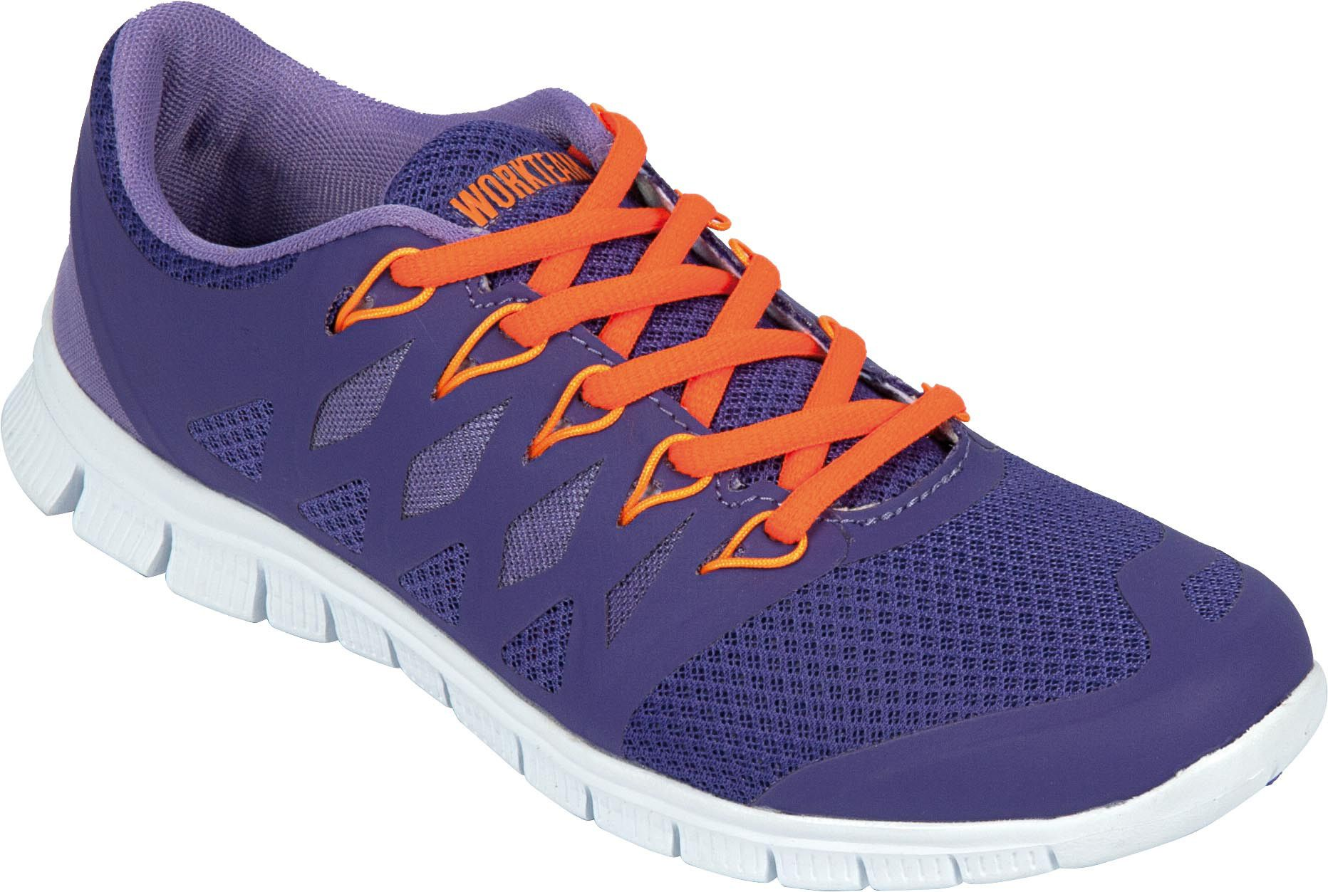 Calzado deportivo con rejilla suela cordones y suela rejilla de goma EVA. Color morado. 09df37