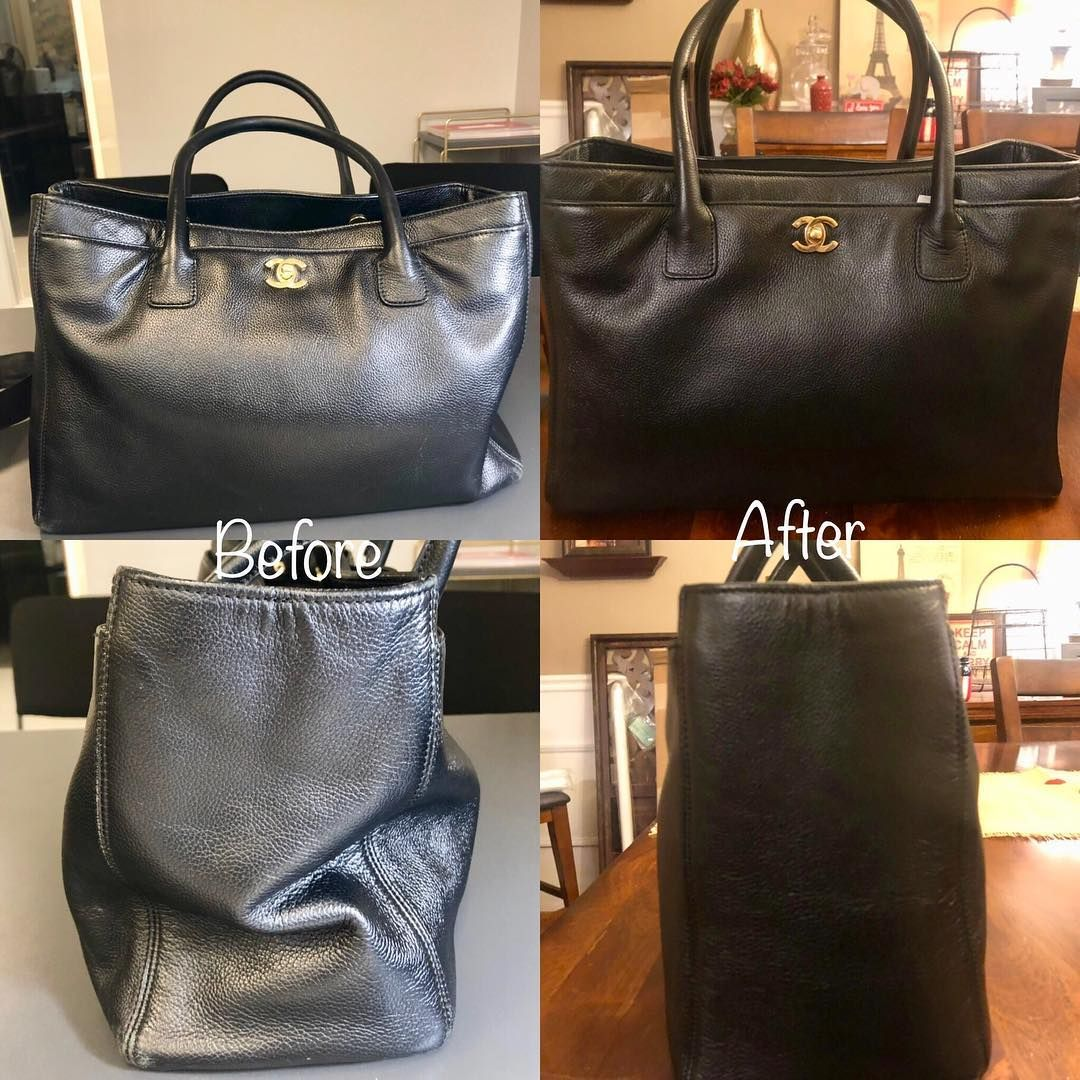 433d9daa63ad A huge thank you to the @leathersurgeons who brought my chanel executive cerf  tote back to life! they restructured her and cleaned her up! 🙌🏼❤️