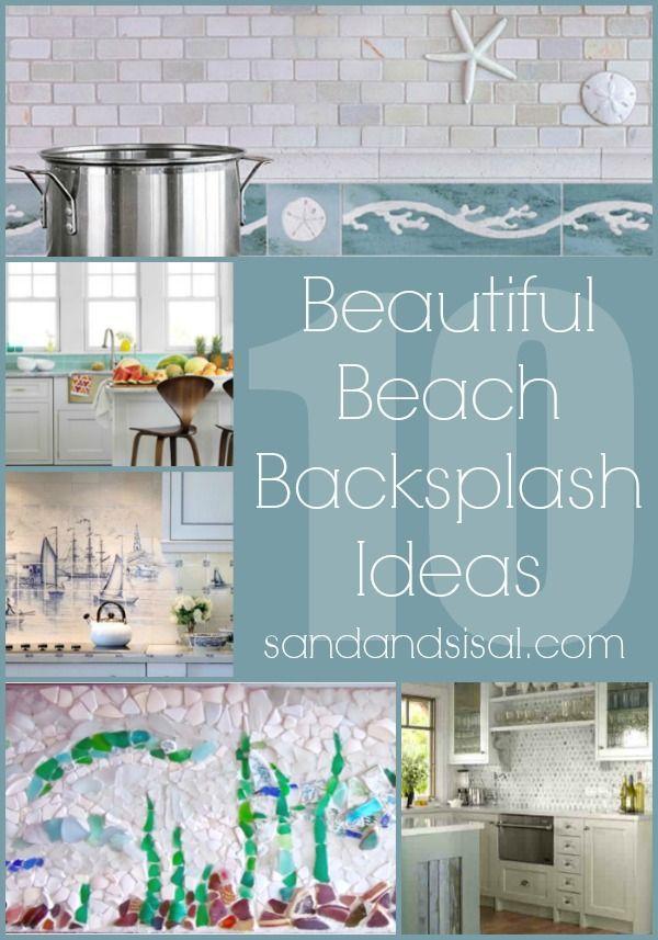 Beach Tile Mural Kitchen Backsplash Diykitchen Nautical Kitchen