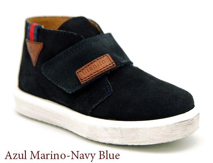 5033968cc Botita con velcro y suela envejecida. Color azul marino http   www.
