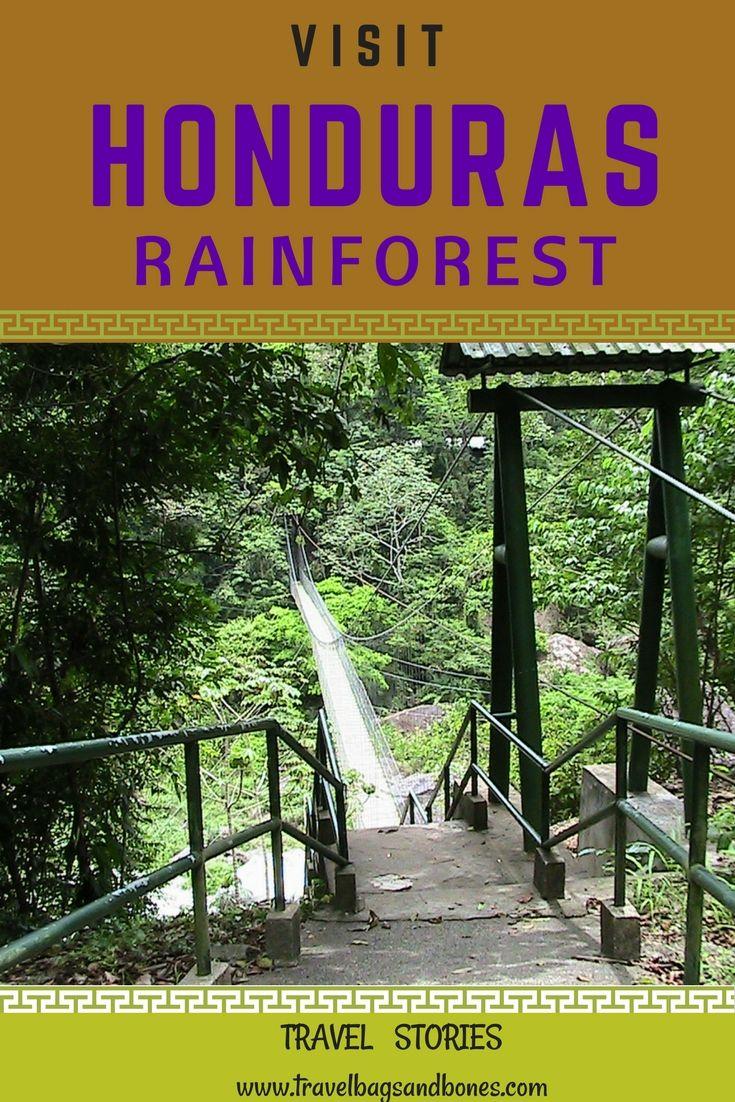 Suspension Bridge, Pico Bonito National Forest. La Ceiba, Honduras