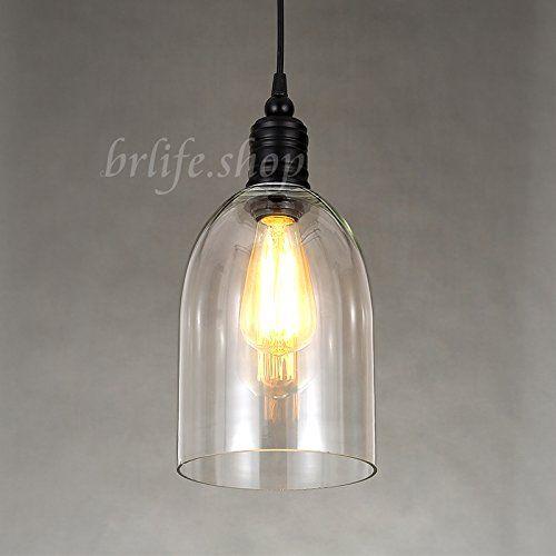 New Modern Metal Gl Bell Shade Pendant Light Edison