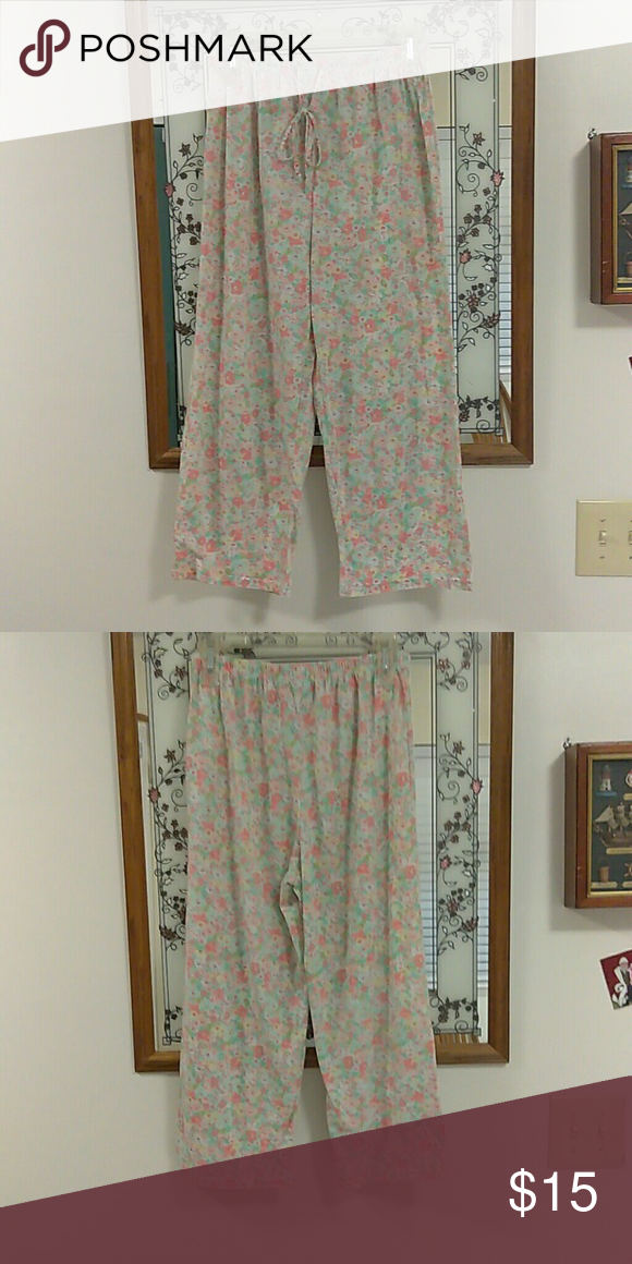 652328684cd3c No brand name PJ bottoms Woman s preowned Floral print bottoms lightweight  material never been worn Intimates   Sleepwear Pajamas