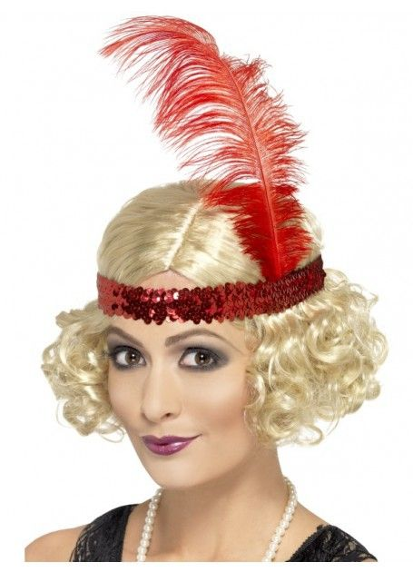 Flapper 1920's Blonde Costume Wig with Sequin Headband. Flapper Costume Wig, Blonde, Curly with Sequin Headband. Feel like you are in the great gatsby movie! www.thewigoutlet.com.au