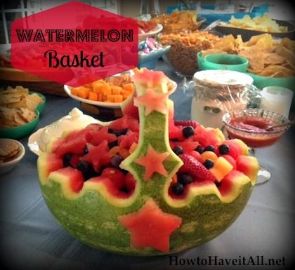 How to Make a Watermelon Basket | Easy, Watermelon carving and Food