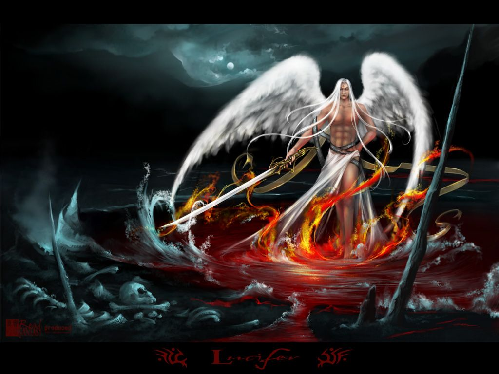 Anime Lucifer Lucifer Anime Wallpaper Angle White Dark Wing The