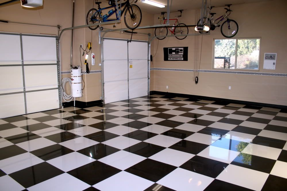 Black And White Tile Floor Finished It Off With Small 1 Black And White In 2020 White Tile Floor Tile Floor Black And White Tiles