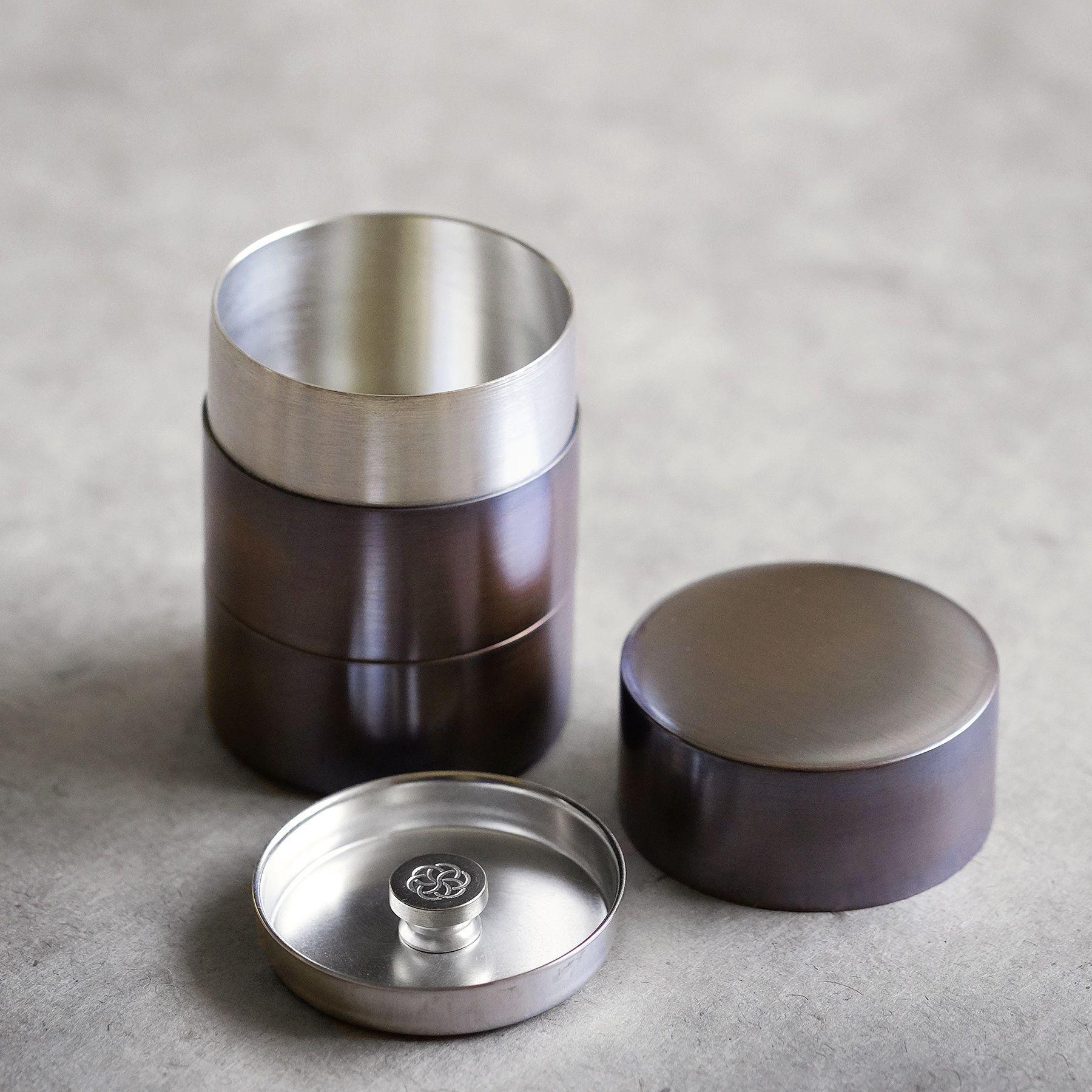 両茶筒 (小)銅製