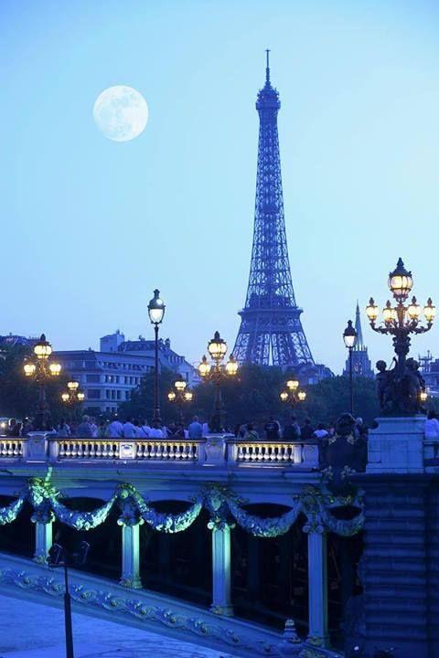 Eiffel Tower At Moonrise