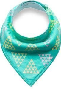 Teal Yellow Gray Triangles Bandana Bib is part of Yellow Clothes Gray - Keep your baby in dry clothes even during teething!