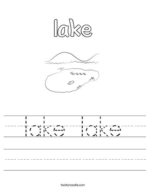 Lake Lake Worksheet Twisty Noodle Ake Words Pinterest
