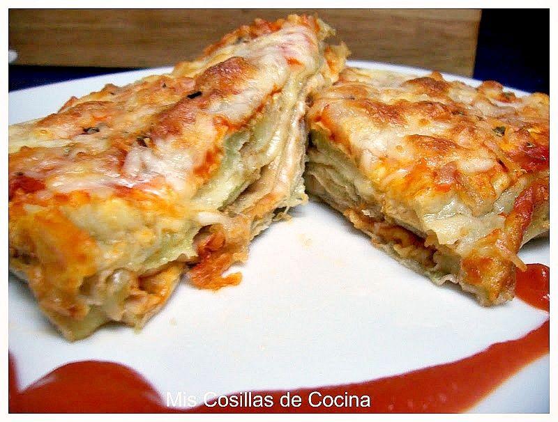 Mis Cosillas de Cocina: Pastel de berenjenas a los tres quesos