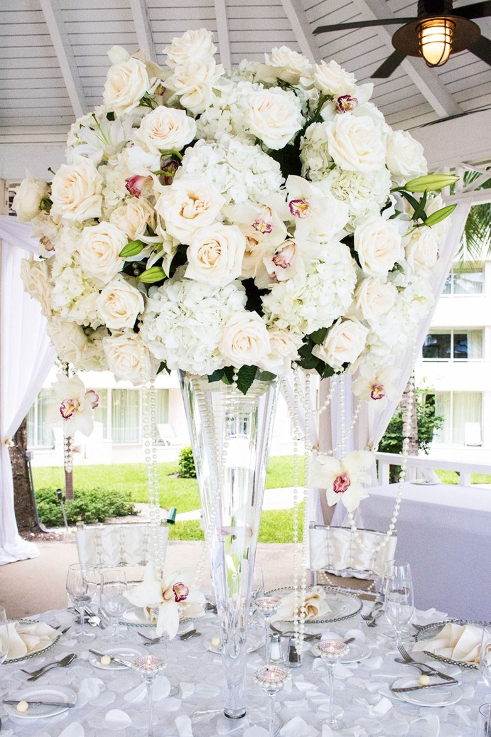 Say I Do In The Bahamas | Hydrangea wedding centerpieces, Wedding ...