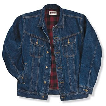 Rugged Wear 174 Flannel Lined Denim Jacket Antique Navy Big