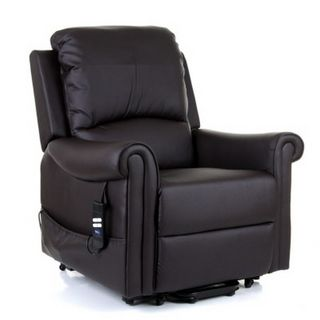 Warwick Riser Recliner Armchair Leather Lift Chair Recliner Chair Armchair