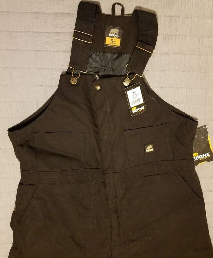 men s berne insulated work coveralls black sz xl short on insulated overalls for men id=13383