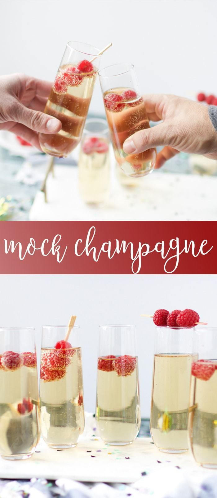 Mock-Champagne for your New Years Toast! (Non-alcoholic) #nonalcoholicbeverages