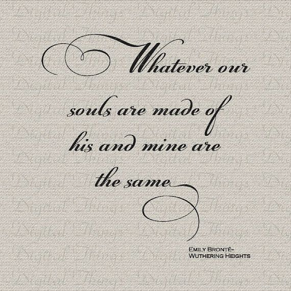 Emily Bronte Quotes | Wuthering Heights Emily Bronte Quote Valentines Day Printable