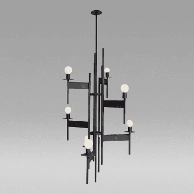 Large Modernist Chandelier by
