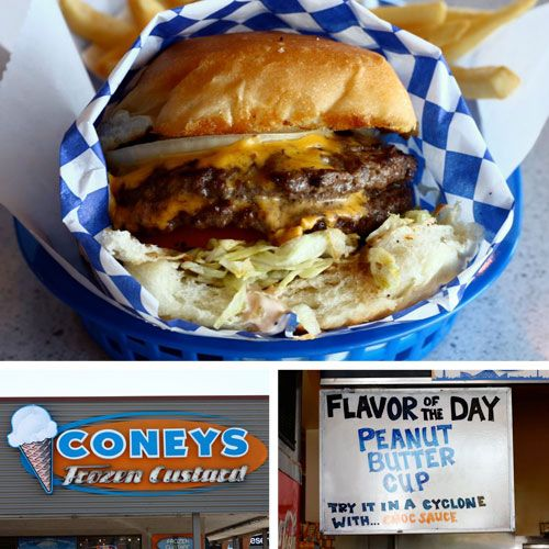Orem Ut Satisfying Burgers Far From The Boardwalk At Coneys Frozen Custard I Need To Get Fat Off Of One Of These