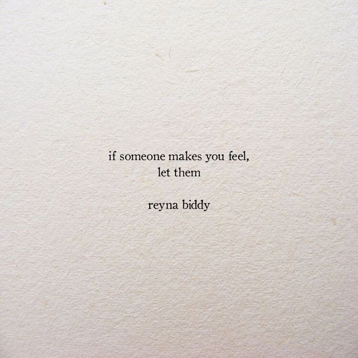 Let yourself feel...
