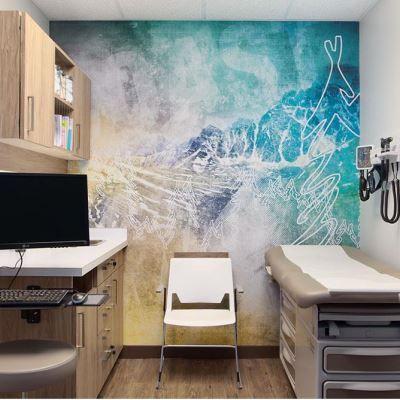Mooie Wanddecoratie In Een Onderzoekskamer Interieur Kleuren Kleuren Spreekkamer