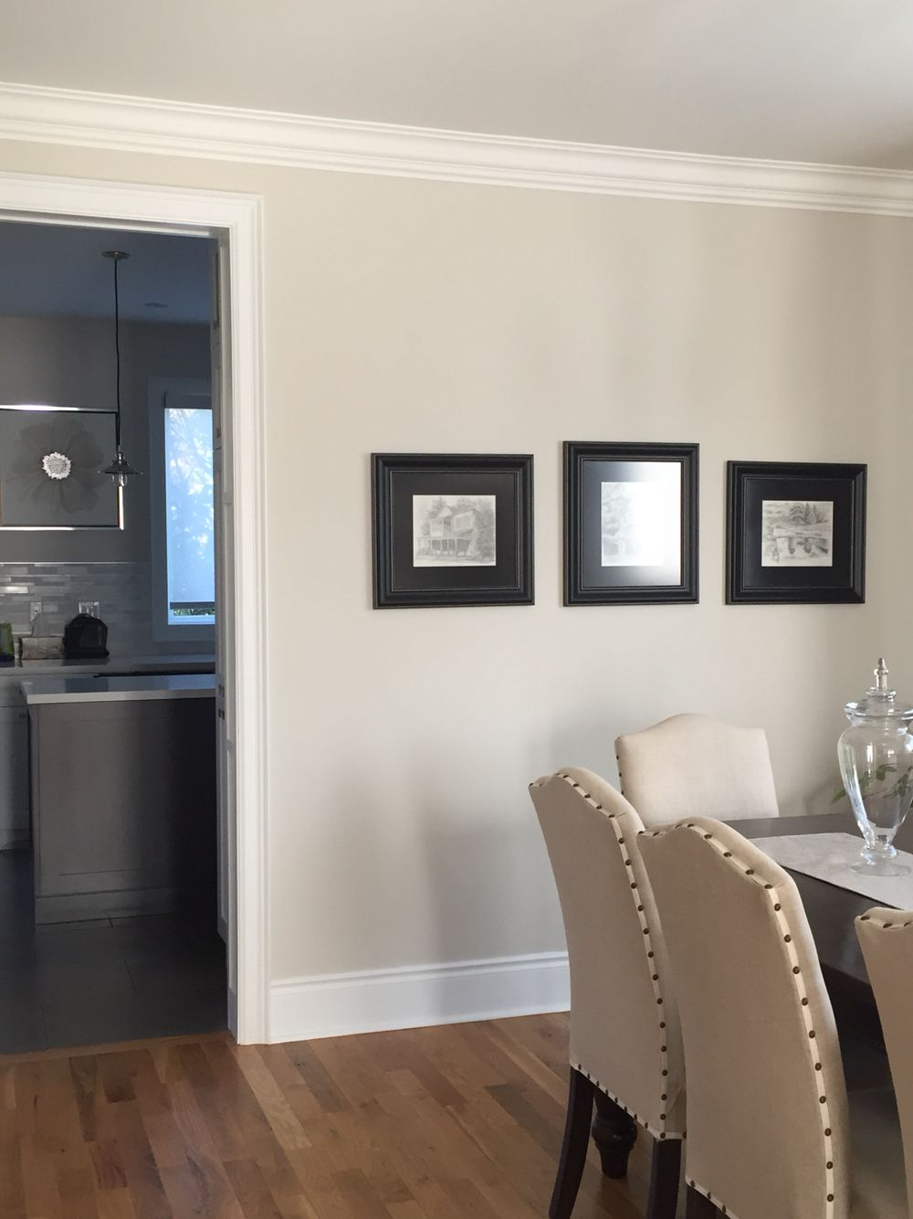 Bm pale oak great soft grey to go with light brown for Soft brown paint colors