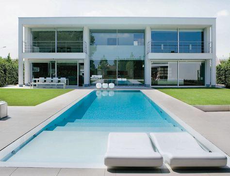 Private Villa Ertvelde Belgium By Gandia Blasco Modern Pool House Modern Pools Pool Houses