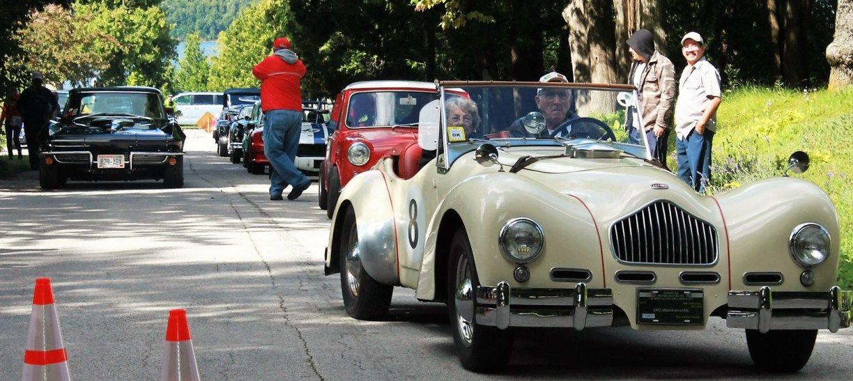 An Allard, a Corvette and a Mini line up for their runs | Sports ...