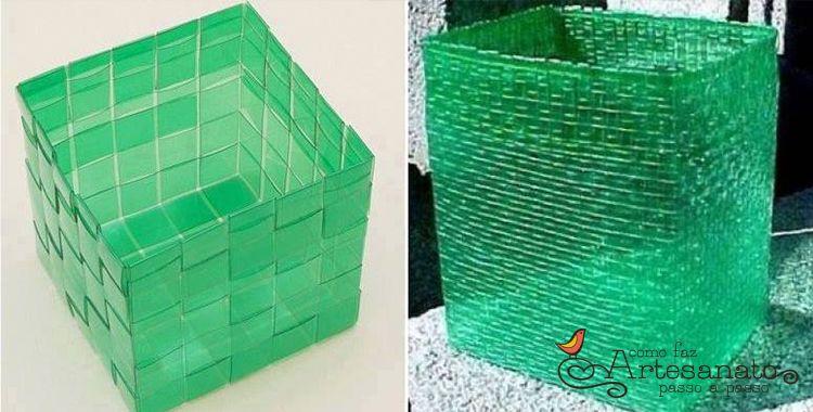Populares Aprenda fazer caixa com garrafa PET. Um artesanato simples que  VS89