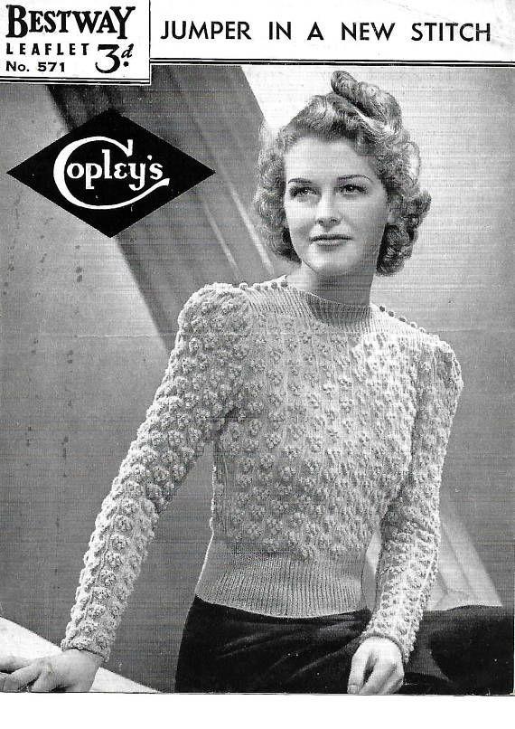 9c9bd454865610 Pin by Glass Slipper Vintage on vintage knitting pattern
