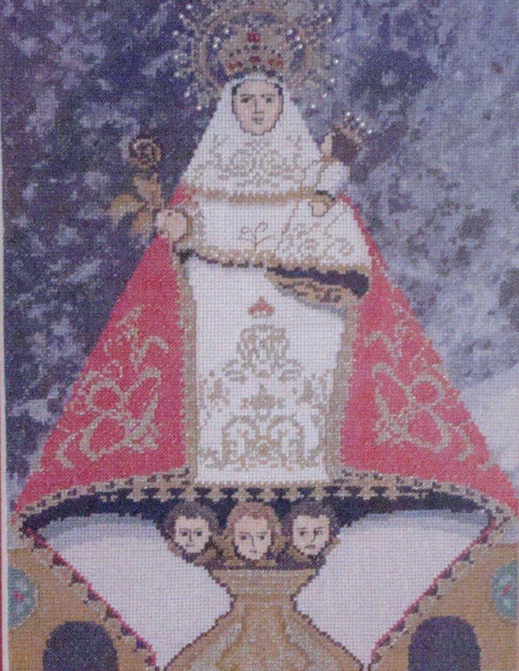 La Virgen De Covadonga Pequeñina Y Galana Cuadros Punto De Cruz Virgen De Covadonga Punto De Cruz
