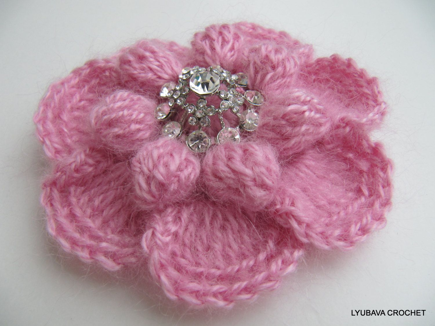 Crochet Flower PATTERN-Crochet Brooch-DIY Gift-Mohair ...