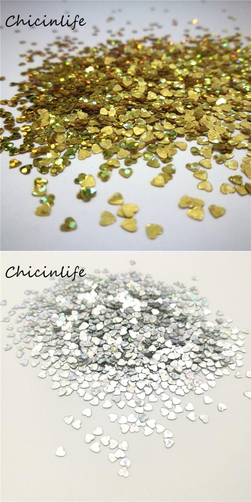 Visit to Buy] Chicinlife 1000pcs/lot Gold/Silver 3mm Wedding Heart ...