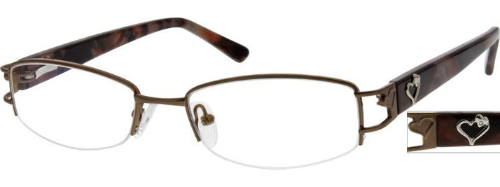 7688 Stainless Steel Half-Rim Frame with Acetate Temples and Spring Hinges-V12IzD0R