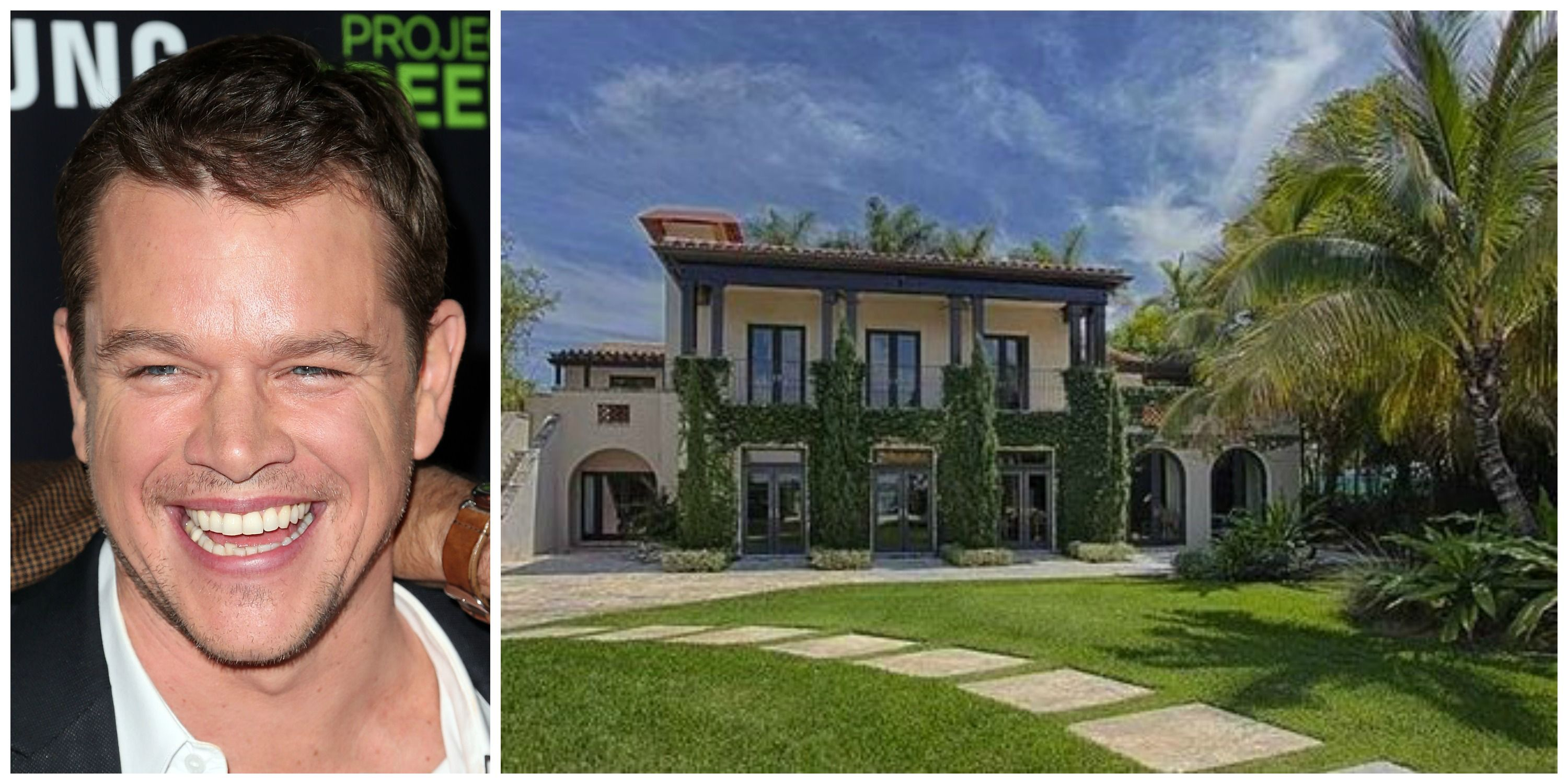 Matt Damon Sells Miami Home For 15 Million Miami Houses Celebrity Houses Matt Damon