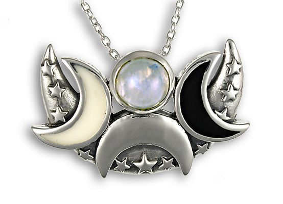Moon pentacle pendant google search jewelry pieces pinterest moon pentacle pendant google search mozeypictures Choice Image
