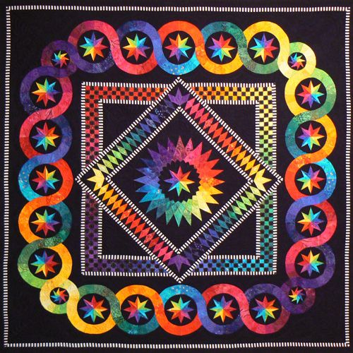 Rainbow Stars Foundation Paper Pieced Quilt Pattern By