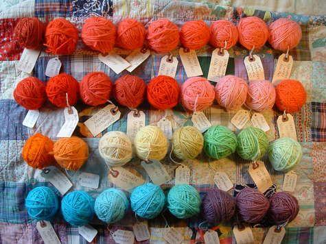 kool-aid dying colours 101...   via knitting iris...