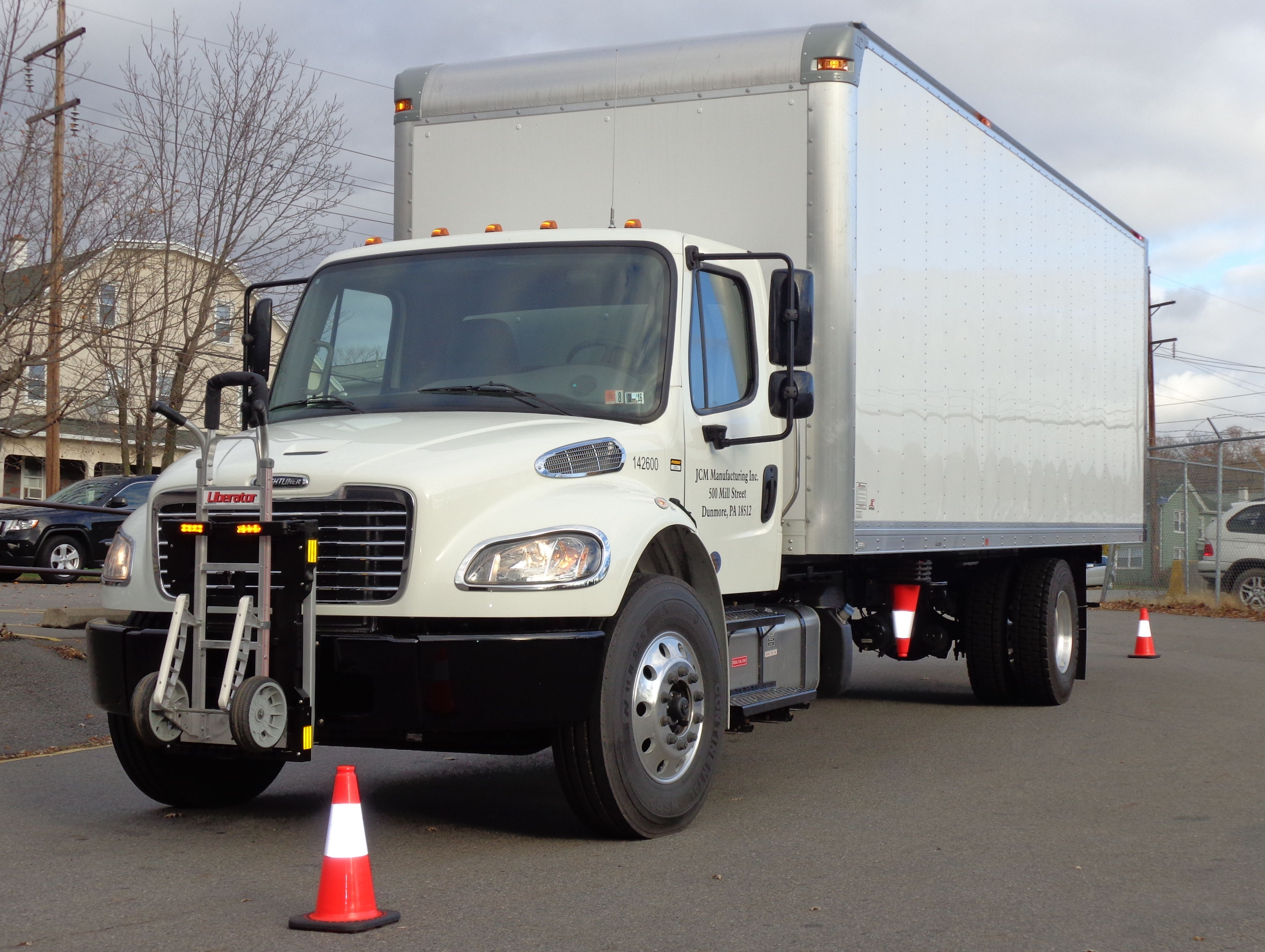 Penske Truck Lease Freightliner M2 Route Delivery Truck Equipped With Hts Systems Hts 10t Tilt Mount Hand Truck Sentry System Trucks Freightliner Hand Trucks